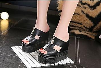 SCLOTHS Été Tongs Femme Chaussures Pente à fond épais étanche White 5.5 US/35.5 EU/3/UK M7WB0lo