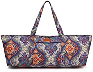 ELENTURE Extra Large Yoga Mat Tote Bag and Multi-Functional Storage Pockets for Sports Gym Pilates, with Yoga