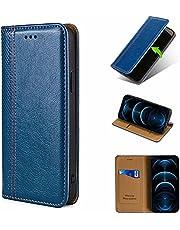 ESONG Hoesje compatibel met iPhone 13 Pro Max,Portemonnee Case Lederen Case Boek Magnetische Sluiting Kaartsleuven PU Lederen Vouwstandaard Beschermhoes voor iPhone 13 Pro Max-blauw