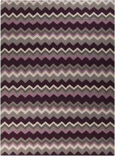 Amazon.com: 8 x 11 Zany Zigzag púrpura, color crudo y gris ...