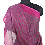 Used Home Decor Indian Vintage Dupatta Sewing Recycled Crafted Fabric Women Shoulder Wrap Long Scarf Magenta Chiffon Fabric Veil Curtain Drape Stole Hijab