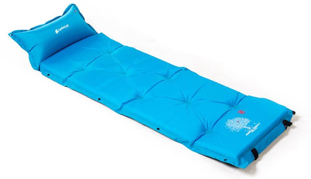 Aoyina 5CM im Freien Selbst aufblasbares Luft Bett Zelt Feuchtigkeit sBesteändigkeits Schlafen auflage mit einzelnem Kissen des Kissen Kissen Doppelt Luft betts Multi Leute Selbstaufblasbare Matratzen Blau