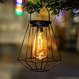 Outdoor Solar Lanterns Lamps - 2 Pack Tabletop