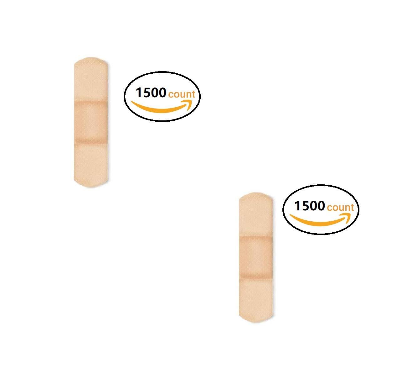 American White Cross 1304000 Sheer Adhesive Strips, Sterile, 3/4'' x 3'' Bulk, (2 Pack (1500 Count))