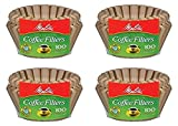 paper coffee filter basket - Melitta 8-12 Cup Basket Filter Paper (Natural Brown, 400 Count)