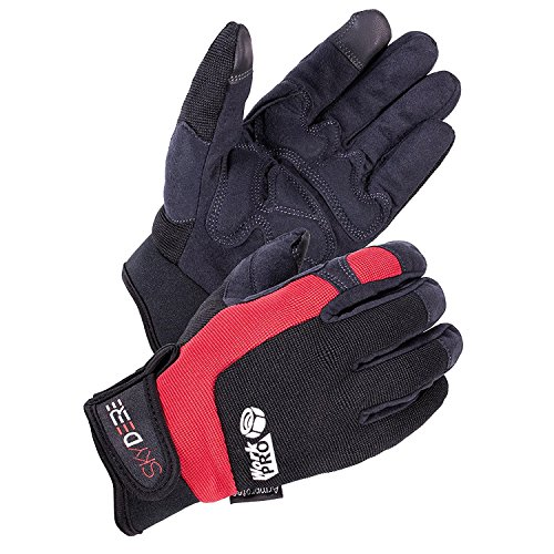SKYDEERE Work Gloves - Armprotec Hi-Performance Synthetic Leather Heavy Duty WorkPRO Work Glove with Touch-Screen for Industrial Carpenter and Construction Work(Medium for Women and Men)