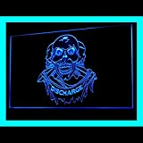 100059 Tattoo Skull Pirates Devil Art Shop Display LED Light Sign