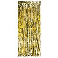 Creative Converting 141008 Foil Fringe Curtain Door 3 'x 8' Gold