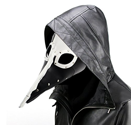 Black Plague Mask (Plague Doctor Mask MeiGuiSha Halloween Costume for Christmas Halloween Party)