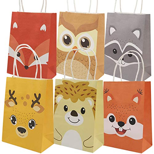 Owl Gift Bags (Woodland Animal Goody Bags for Halloween Party Supply Kids Party Favor Baby)