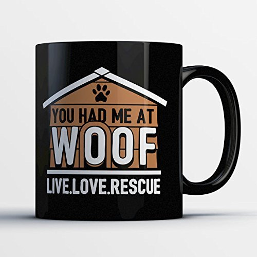 Dog Rescue Gift - Rescue Dog Mug - Live Love Rescue - Coffee Cup for Dog Mom (Feeding Sippy Collection Cup)