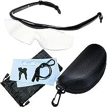 (ジャパナイス)JapaNice 新型 両手が使える メガネ型 拡大鏡 1.8倍 ...