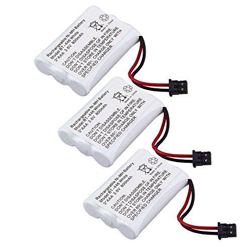 BP-446 BT-446 BT-1005 Cordless Phone Battery 3.6V 800MAH For Uniden Lifetime Warranty (Pack of 3) 3815 Cordless Phone Battery