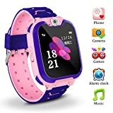 Kids Smart Watch for Children Girls Boys Digital Watch with Anti-Lost SOS Button GPS Tracker Smartwatch Great Gift for Children Pedometer Smart Wrist Watch for iOS Android (S10-2 Pink)