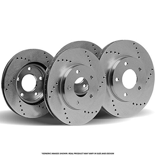 (Front+Rear Rotors) 4 HD SPEC Cross Drilled Brake Rotors-(6lug)