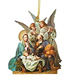 Blessing Angels Laminated Cardstock Nativity Ornament with Bible Verse, Pack of 50