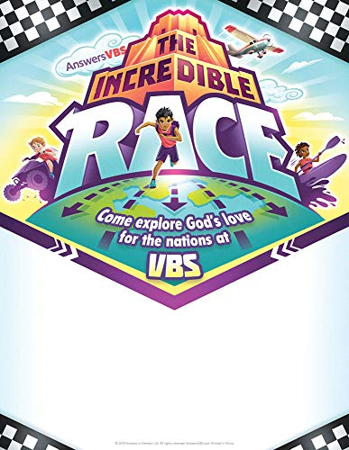 Promotional Flyers - Pack of 10 - The Incredible Race VBS by Answers (Promotional Flyer)