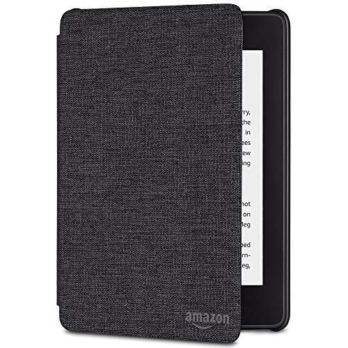 All-new Kindle Paperwhite Water-Safe Fabric Cover (10th Generation-2018), Charcoal Black (Covers Kindle On Sale)