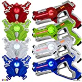 Play22 Laser Tag Sets Gun Vest - Infrared Laser Tag Set 4 Guns 4 Vests - Laser Tag Gun Toys for...