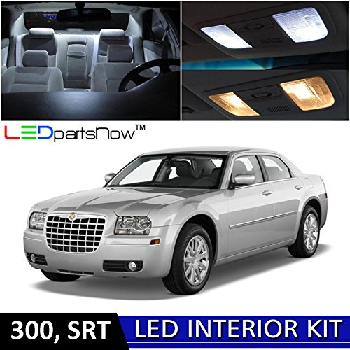 LEDpartsNow 2005-2010 Chrysler 300 LED Interior Lights Accessories Replacement Package Kit (12 Pieces), (Light Interior Door Hinge)