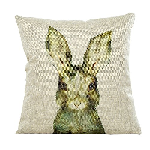 Throw Pillow Cases, E-Scenery Clearance Sale! Animals Linen Square Decorative Throw Pillow Covers Cushion Cases for Sofa Bedroom Car Home Decor, 18 x 18 Inch (F) ()