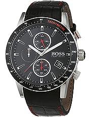 hugo boss Rafale Men's Black Dial Leather Band Watch - 1513390