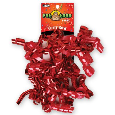 CURLED RIBBON BOW REDS #34060, CASE OF 192 by DollarItemDirect