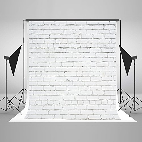 Kate 5x7ft(150x220cm) White Brick Wall Backdrops Photography Brick Floor Photo Studio Backgrounds for Christmas