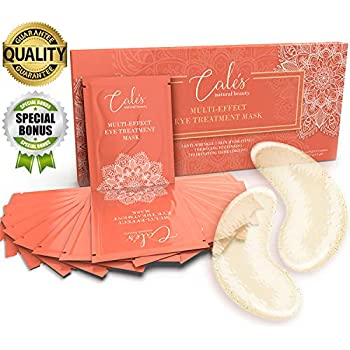 Under Eye Patches for Puffy Eyes Collagen Eye Mask for Dark Circles Gel Under Eye Pads for Wrinkles with Hyaluronic Acid Gold Eye Masks Under Eye Bags Treatment Men and Woman (Pack of 15) by Cales