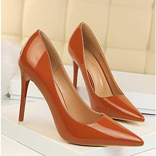 Tacones Altos De La Mujer PU Elegante Moda Puntiagudo Tacón De Aguja De  Novia Zapatos De 56bdcafdcaf0