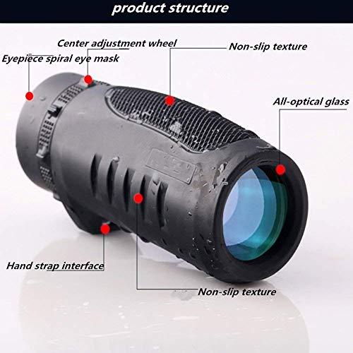 Carl Artbay Telescopio monocular portátil de Alta Potencia de visión Nocturna 10X con Lente HD para observación de Aves,...
