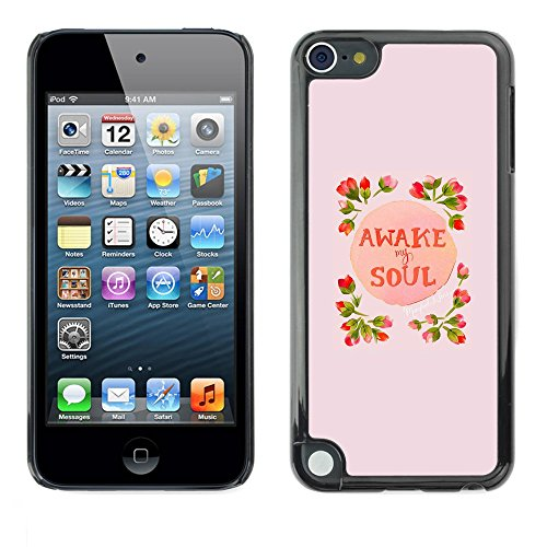 Soft Silicone Rubber Case Hard Cover Protective Accessory Compatible with Apple IPod? Touch 5 - awake soul inspiring spring flowers peach