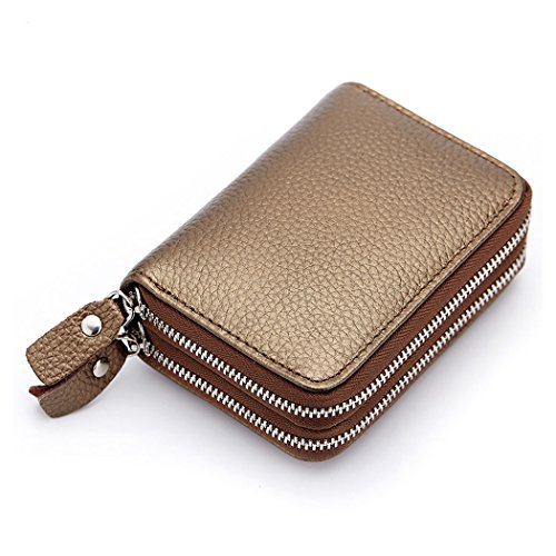Leather gold Anshili Holder Case Wallet Coin gold Clutch Card Unisex Credit Change Purse Fwq5wHU1x