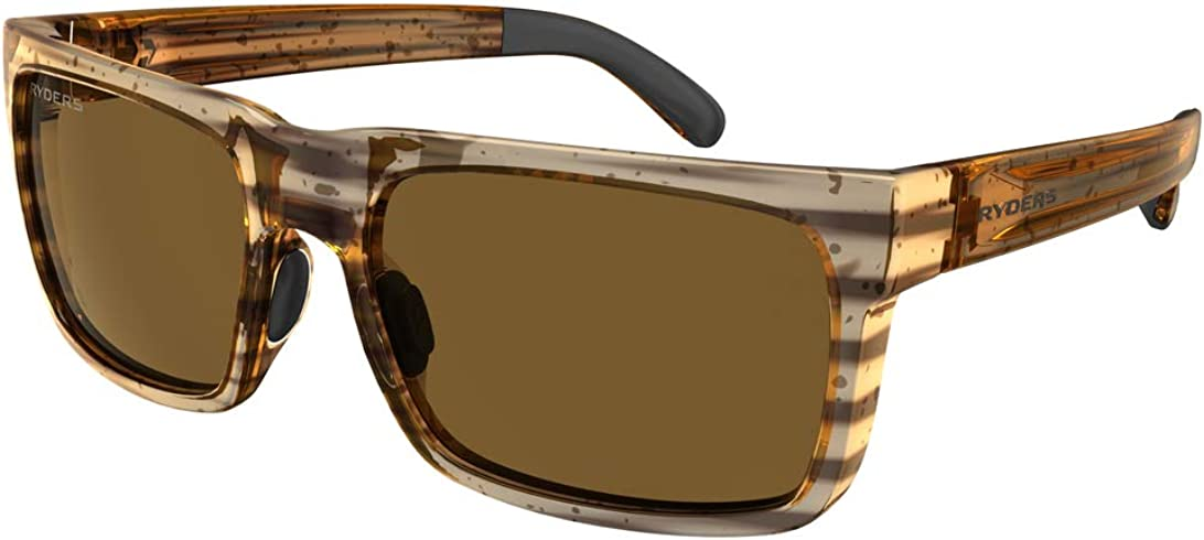 Ryders Eyewear Sports Polarized Sunglasses 100% UV Protection, Impact Resistant Casual Sunglasses for Men, Women - Pemby