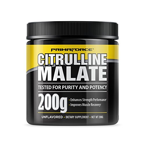 PrimaForce Citrulline Malate Powder Supplement, 200 Grams - Enhances Strength Performance / Improves Muscle Recovery