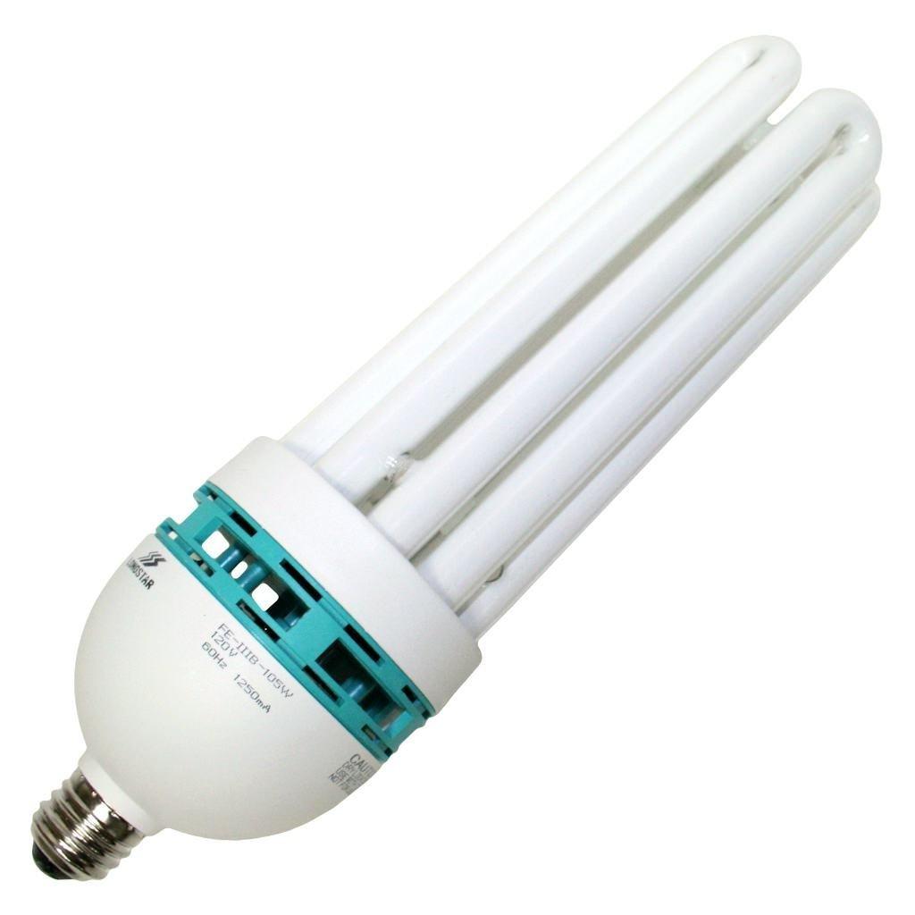 KAEZI 105 Watt Studio Grow Light Bulb Compact Fluorescent 5500K CFL Day Light Bulb (105W) Spiral