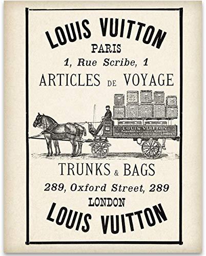 Louis Vuitton Wagon Advertisement - 11x14 Unframed Art Print - Great Home and Bathroom Decor Under ()
