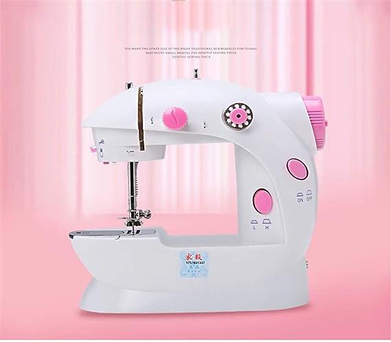 Máquina portátil de la máquina de coser coser Mini Con ajustable 2 ...