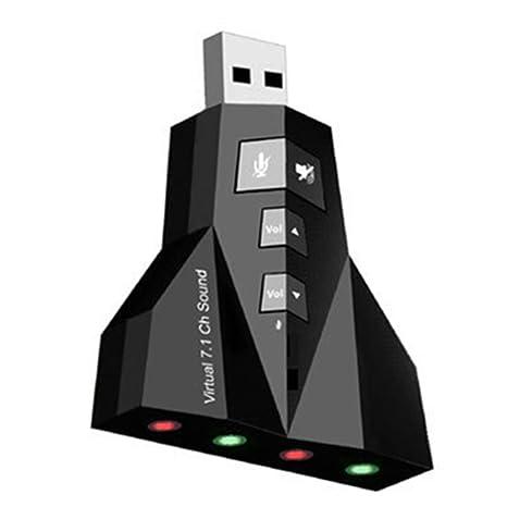 A menudo de la Segunda Guerra Mundial tarjeta de sonido externa de 7.1 USB 2.0 de sonido de-tarjeta USB tarjeta de sonido