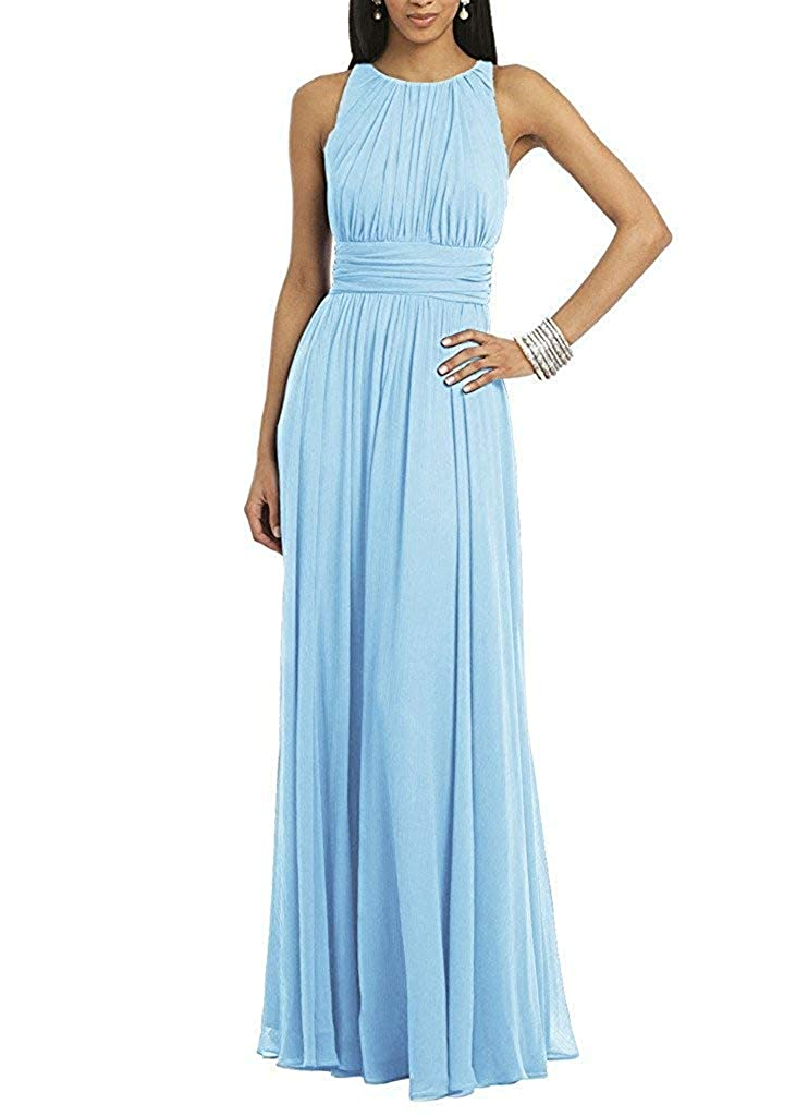 Light bluee ASBridal Evening Dress Mermaid Prom Party Dress with Crystals Beading Long Satin Formal Evening Gown Backless