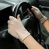 JISEN Women Sunscreen Fingerless Gloves UV