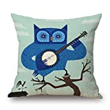 beautifulseason bird throw cushion covers 20 x 20 inches / 50 by 50 cm for floor,dance room,kitchen,sofa,saloon,valentine with two sides
