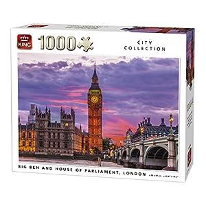 King 5658 Big Ben Clock E Parlamento House London Uk Citt Puzzle Da Pezzi 68 X 49 Cm