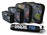 Shacke Pak - 4 Set Packing Cubes - Travel Organizers with Laundry Bag (Paperback)