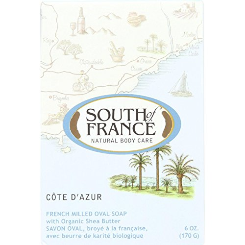 French Milled Oval Soap Cote d'Azur South of France 6 oz Bar Soap