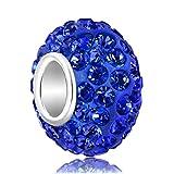 Pugster 925 Sterling Silver Birthstone Charms Crystal Charm Beads Fits Pandora Charm Bracelets