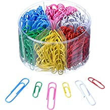 Shappy Paper Clips Medium and Jumbo Size, 450 Pieces (28 mm, 50 mm) (Multicolored)