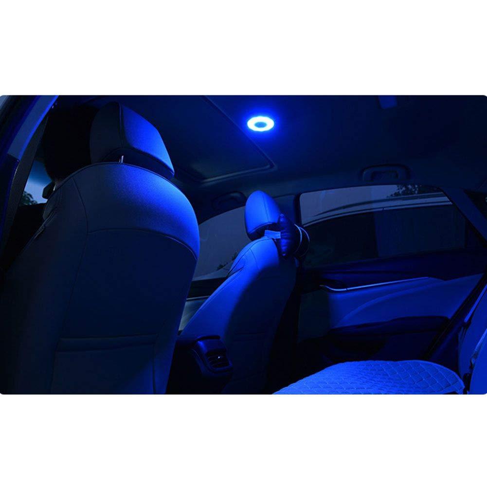 Inicio Lampada di Ricarica Wireless Ricaricabile Universale Tonda Portatile a LED con Ricarica USB per Interni Auto