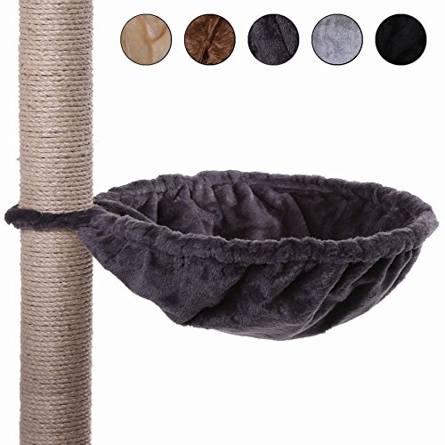 Dibea KB00132Cat Tree with Lounger, Size L, Grey