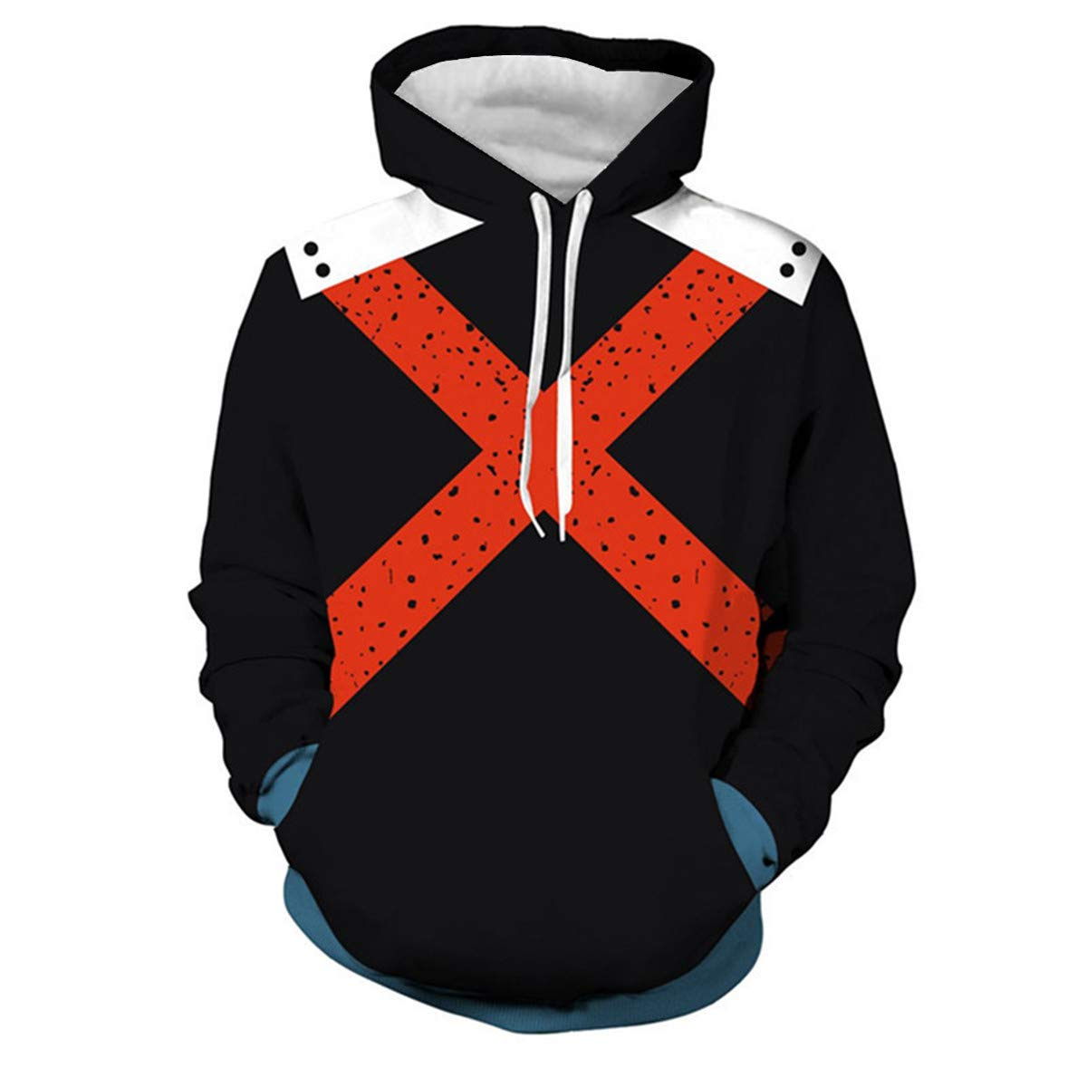 CHENMA Men My Hero Academia 3D Print Pullover Hoodie Sweatshirt with Kangaroo Pocket